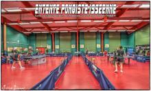 La salle en configuration : 2 matchs Pro simultanés