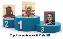 top 3 de septembre 2015 : 1 Isa, 2 Jean-Evenor, 3 Guy
