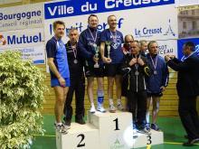 Podium du double vétéran 2 des championnats de France 2015