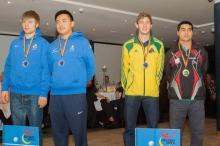 Antoine, 2ème à gauche, en compagnie de Lucas.